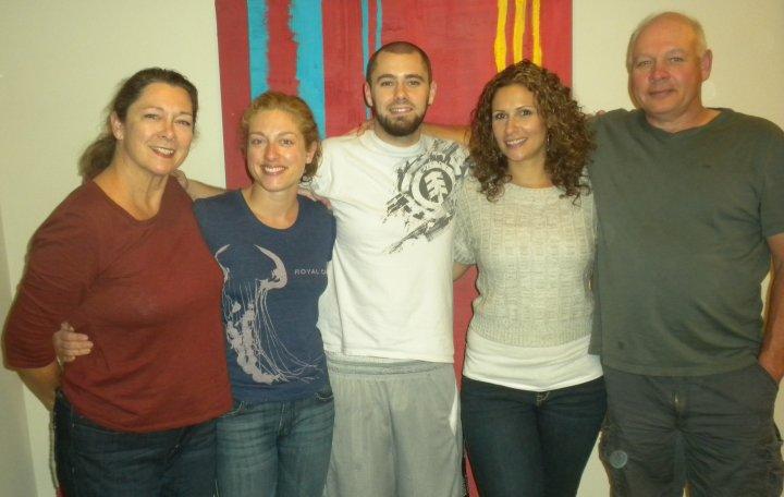 Lori, Hilary, Danny, Jennifer, and Dan