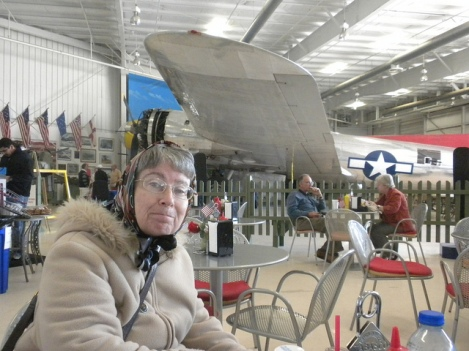Martine with Boeing B-17 in Background