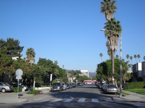 Along Broadway in Santa Monica