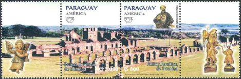 Stamps Commemorating the Jesuit Missions of Paraguay