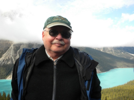 At Peyto Lake in Canada's Banff National Park
