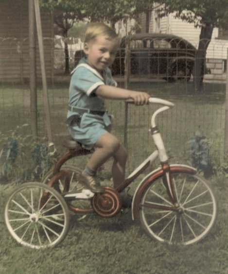 Me on a Tricycle Ca. 1950