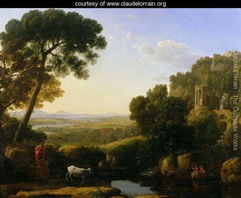"""Claude Lorrain's """"A Landscape with Argus Guarding Io"""""""