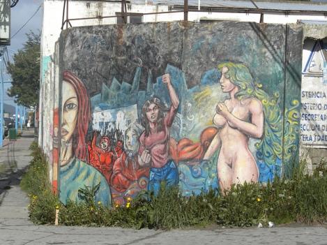 Mural Along Rivadavia in Ushuaia, Tierra Del Fuego
