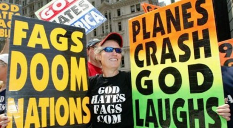 "Gonzo Picketer for So-Called ""Westboro Baptist Church"""