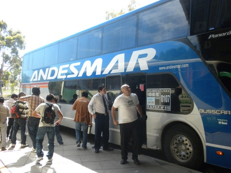 At the Bus Station in Trelew, Argentina