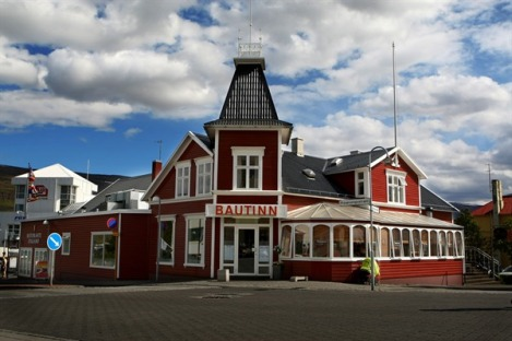The Colorful Bautinn Restaurant in Akureyri