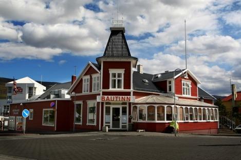 The Colorful Bautinn Restaurant in Akureyri