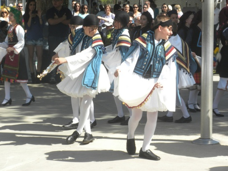 Boys from St. Nicholas Greek Orthodox Church in Macedonian Costume