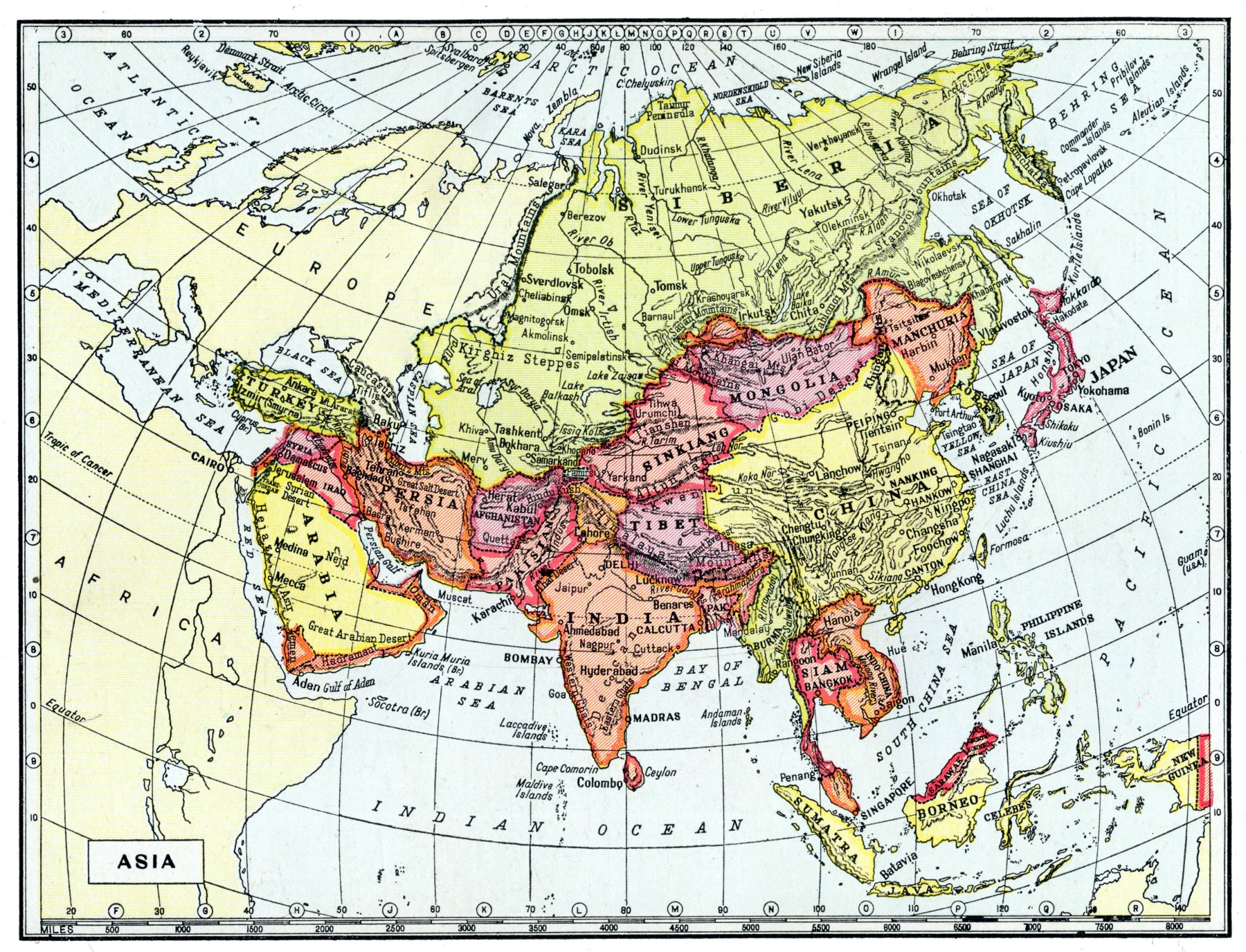 Map of Asia 1950 | tarnmoor