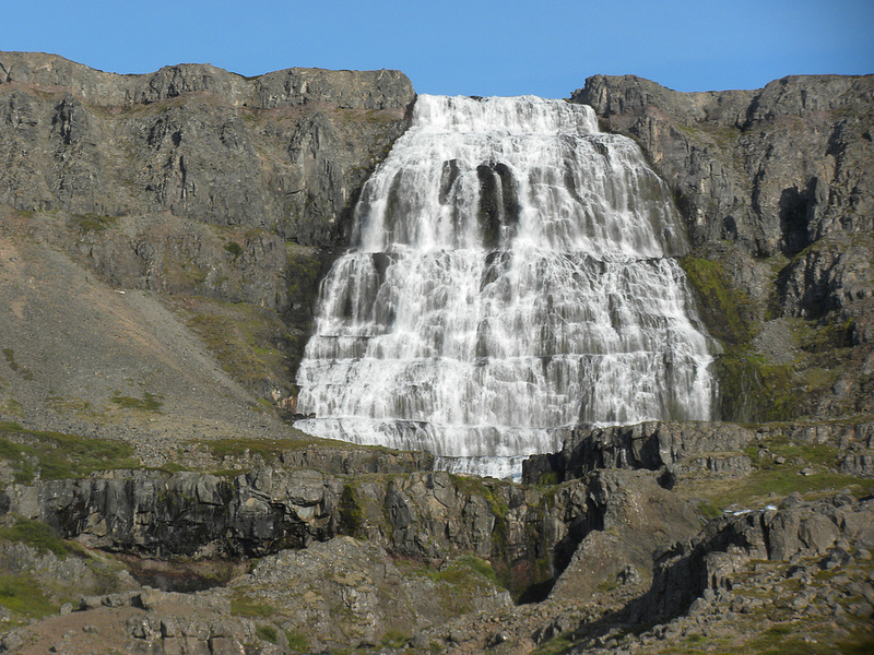 Dynjandi Falls in the West Fjords