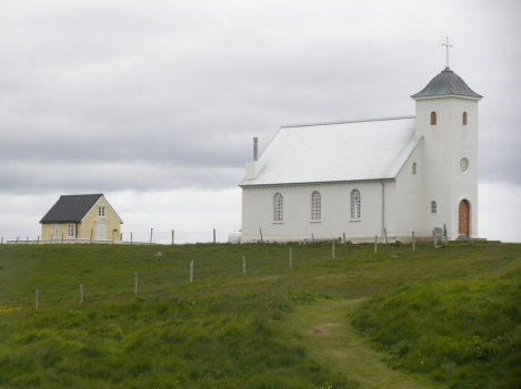 Church and Tiny Library on the Island of Flatey