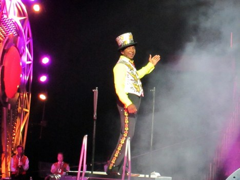 Ringmaster Andre McClain of the Ringling Bros Barnum & Bailey Circus