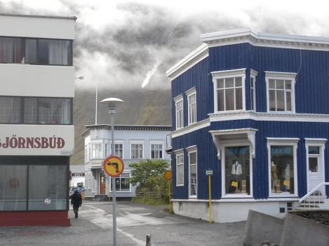 Downtown Ísafjörður in the Westfjords