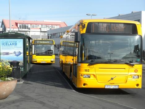 Stræto Buses at Hlemmur