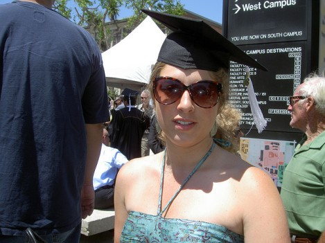 Hilary Paris at her Graduation from Cal State Long Beach in 2008