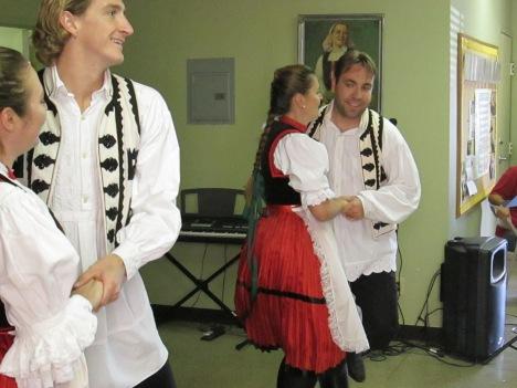 Members of the Kárpátok Hungarian Folk Enesemble
