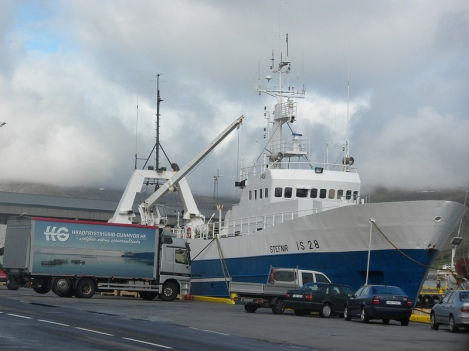 The Stefnir Preparing to Sail from Isafjördur