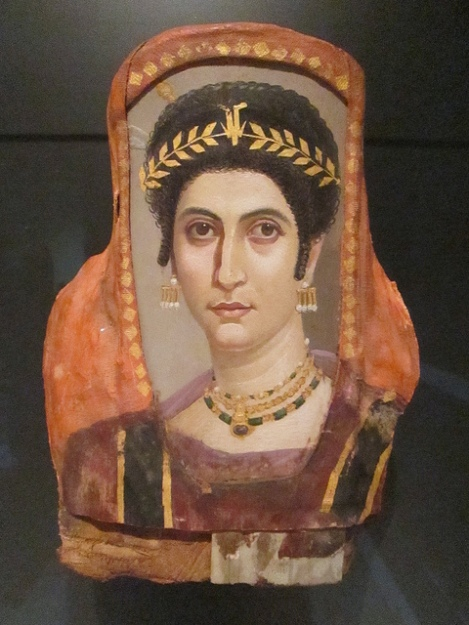 Hellenistic Mummy Burial Mask of a Young Woman