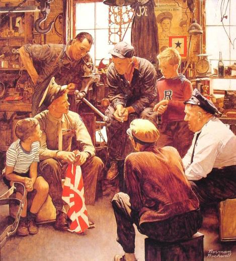 Norman Rockwell's Homecoming of a U.S. Marine