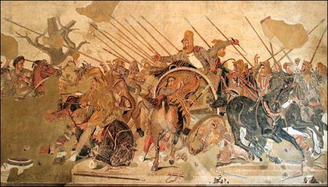 Alexander the Great at the Battle of Issus Against the Persians