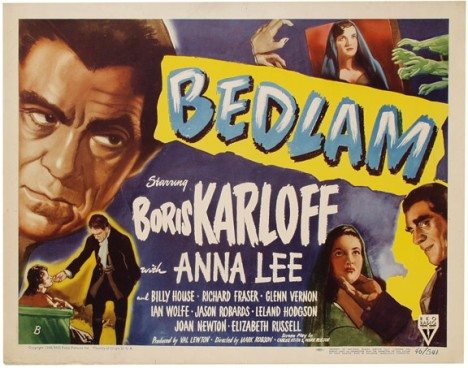 Poster for Val Lewton's Bedlam