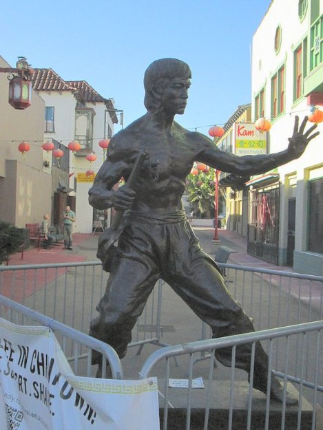 Statue of Bruce Lee in L.A.'s Chinatown