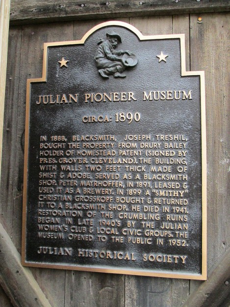 Commemorative Plaque Outside the Museum