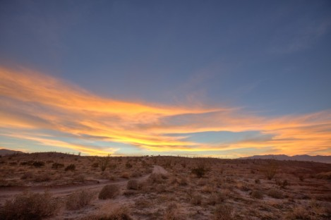 Sunset in the Anza-Borrego Desert
