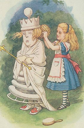 Tenniel's White Queen in Through the Looking Glass
