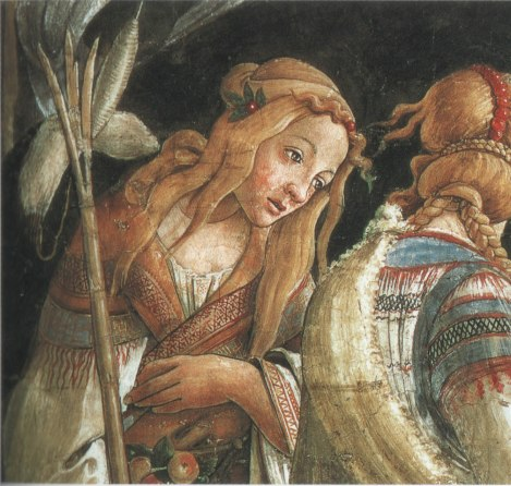 Detail of Zipporah from Botticelli's The Trials of Moses