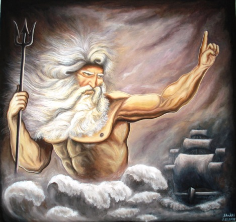 A Painting of Neptune by an Indian Artist