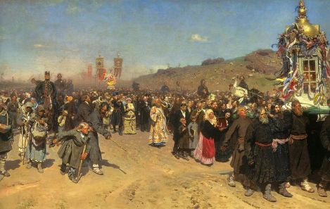 """Religious Procession in Kursk Province"""