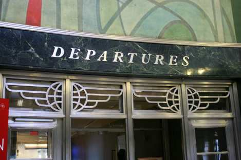 Art Deco Doors at LaGuardia's Marine Air Terminal