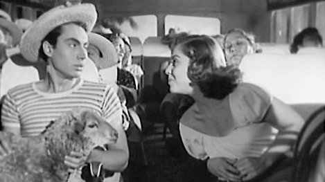 Still from Luis Buñuel's Mexican Bus Ride (Subida Al Cielo, 1952)