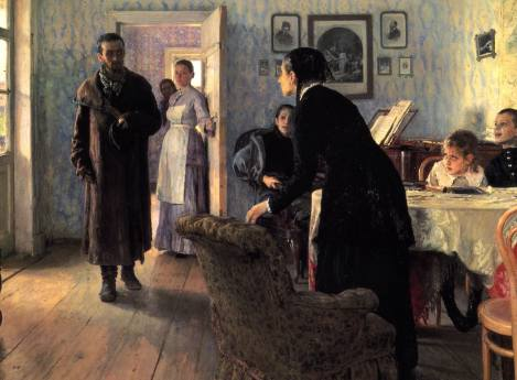 """Unexpected Visitors""—The Protypical View of 19th Century Russian Family Life"