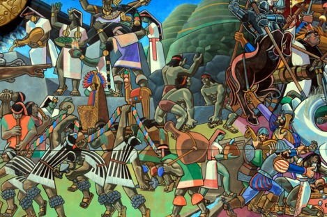 Mural of Inca Indians