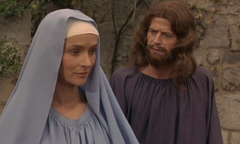Bernard Verley as Christ and Edith Scob as Mary in Buñuel's The Milky Way (1969)
