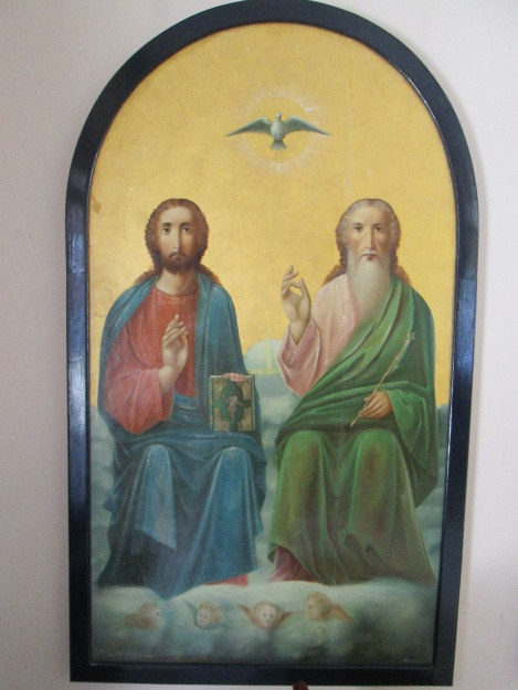 Depiction of the Trinity in St. Constantine's Chapel at Saint Sophia