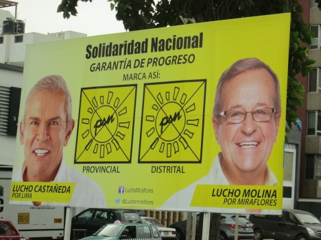 Election Poster in Miraflores