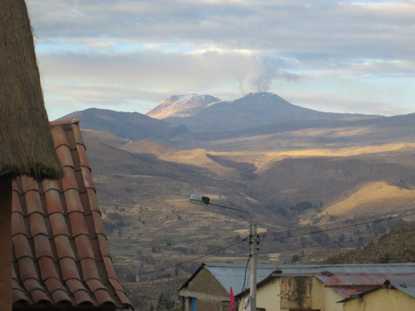 Mount Sabancaya Erupting