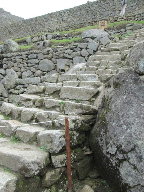 Irregular Stone Steps at Machu Picchu