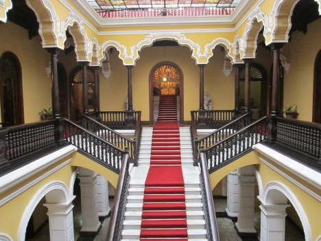 The Main Staircase of the Archbishop's Palace in Lima