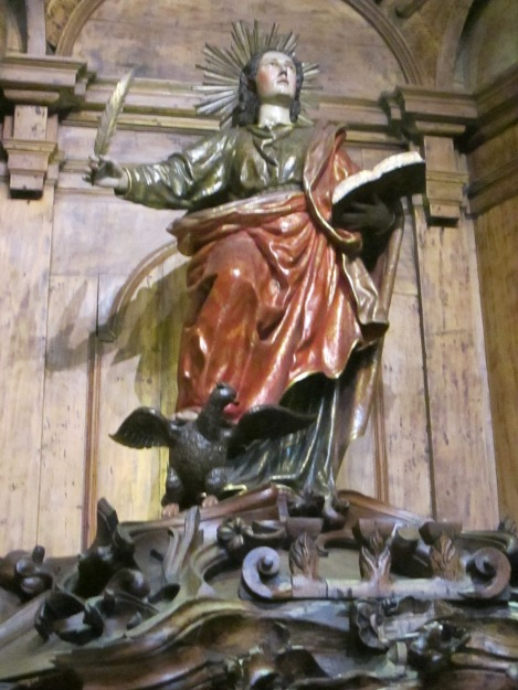 Statue of Saint in Lima's Cathedral