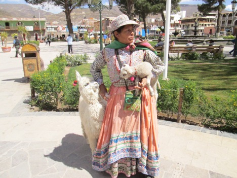 This bWoman in Chivay Had a Lamb and a Llama