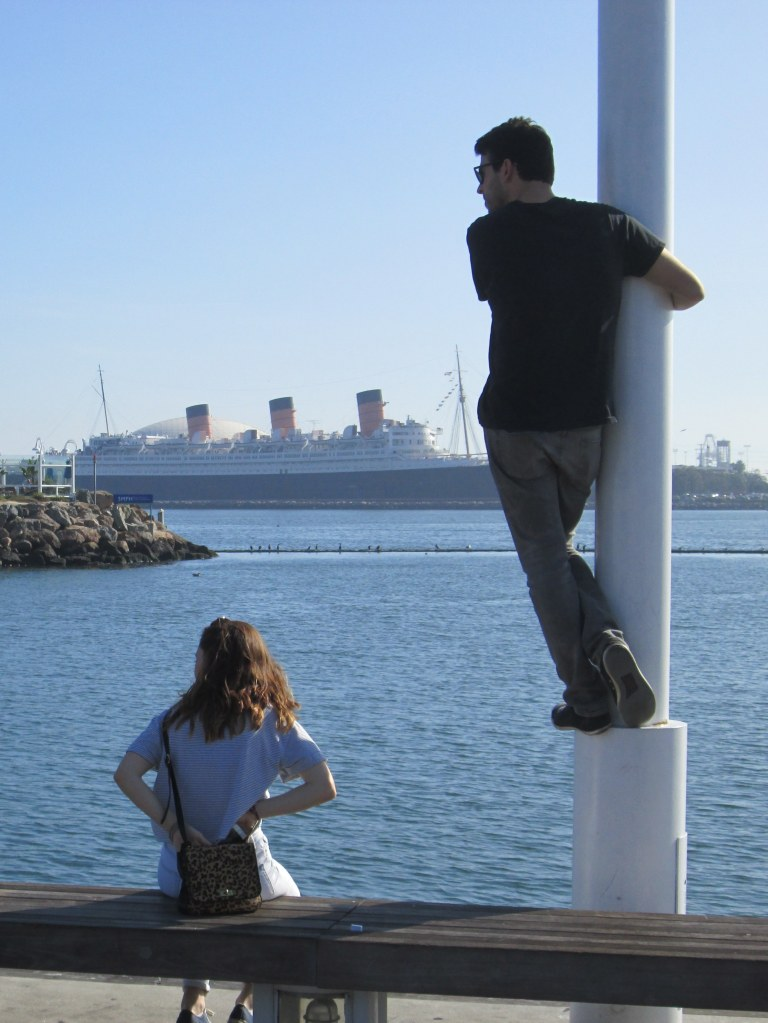 Looking Across the Harbor at the Queen Mary