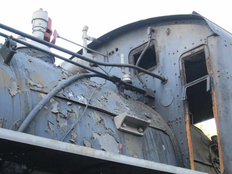 Steam Locomotive with Peeling Paint