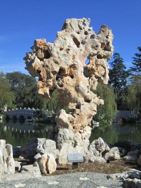 Craggy Limestone Rock from Lake Tai