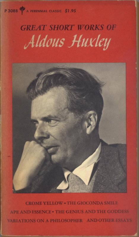 Aldous Huxley Pictured on Cover of One of My Books