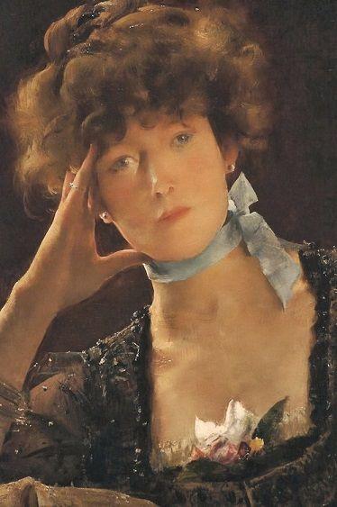 "Alfred George Stevens's ""Portrait of Sarah Bernhardt"" (1885)"